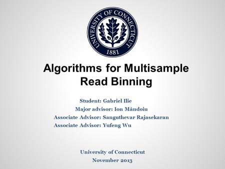 Algorithms for Multisample Read Binning