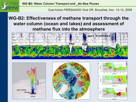 WG B2: Water Column Transport and _Air-Sea Fluxes Cost Action PERGAMON Kick Off, Bruxelles, Nov. 12-13, 2009 WG-B2: Effectiveness of methane transport.