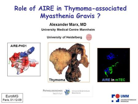 Role of AIRE in Thymoma-associated