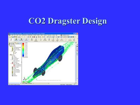 CO2 Dragster Design. Research and Development Objectives Research in CO2 auto design involves the study of a few sciences related to the motion of your.