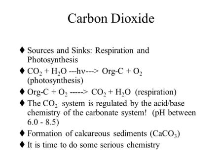 Carbon Dioxide Sources and Sinks: Respiration and Photosynthesis