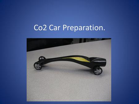 Co2 Car Preparation.. Use scissors to cut out your Co2 car.