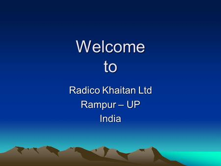 Welcome to Radico Khaitan Ltd Rampur – UP India. One of the largest Alcohol Manufacturing plant in the Country having Multiple facilities like Molasses.