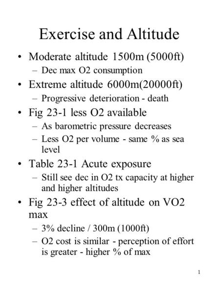 The Effects Of Altitude On Human Physiology