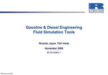 Gasoline & <strong>Diesel</strong> <strong>Engineering</strong> Fluid Simulation Tools