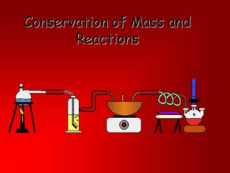 Conservation of Mass and Reactions. Objective 4 TEK 8 The student knows tat changes in matter affect everyday life. (C ) The student is expected to investigate.