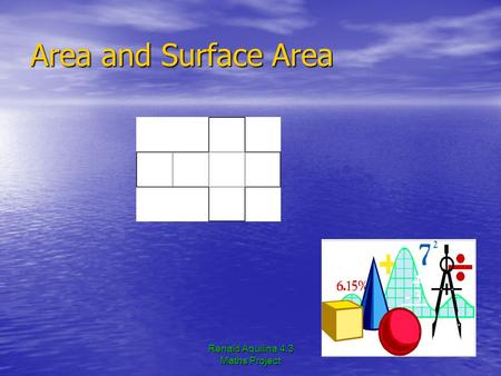 Renald Aquilina 4.3 Maths Project Area and Surface Area.