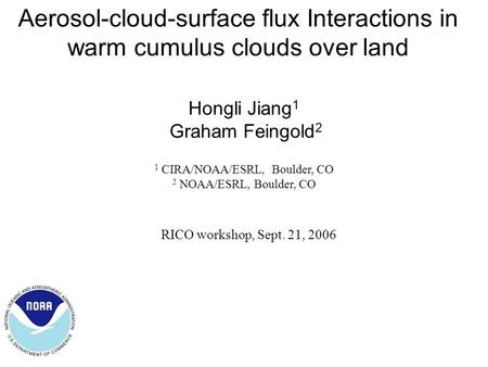 aerosol cloud interaction essay