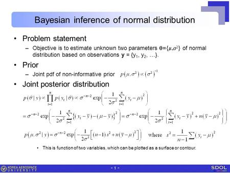 Bayesian inference of normal distribution
