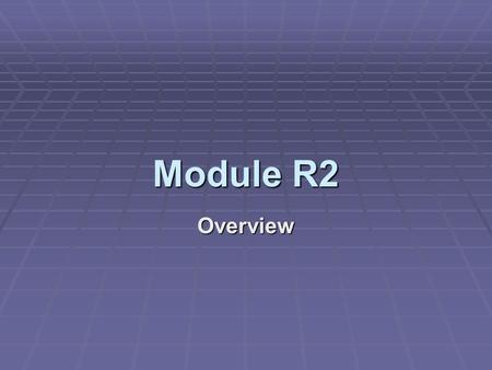 Module R2 Overview. Process queues As processes enter the system and transition from state to state, they are stored queues. There may be many different.