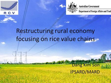 Restructuring rural economy focusing on rice value chains Dang Kim Son IPSARD/MARD.