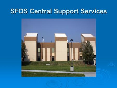 SFOS Central Support Services. Unit Staff ACADEMICACADEMIC IMSIMS ChristinaBethMadeline RobbieDebiLaura.