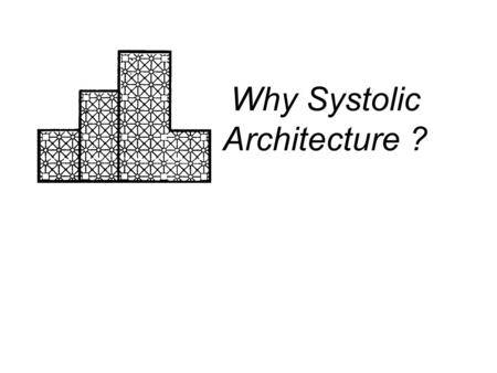 Why Systolic Architecture ?. Motivation & Introduction We need a high-performance, special-purpose computer system to meet specific application. I/O and.