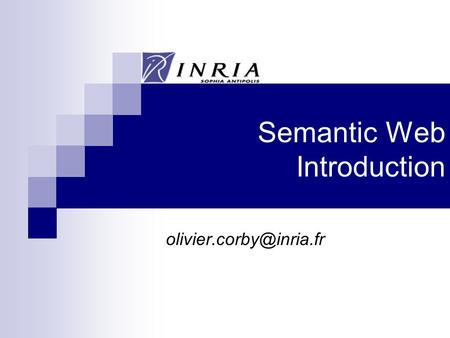 Semantic Web Introduction