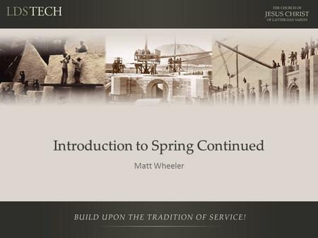 Introduction to Spring Continued Matt Wheeler. Notes This is a training NOT a presentation Please ask questions Prerequisites – Introduction to Java Stack.