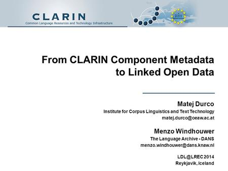 From CLARIN Component Metadata to Linked Open Data