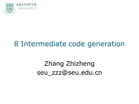 8 Intermediate code generation