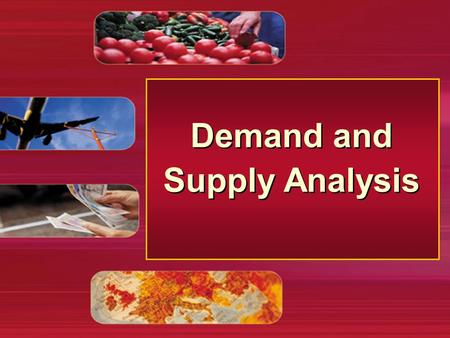 Demand and Supply Analysis. Demand and supply analysis The price mechanism: effect of a rise in demand the goods market The price mechanism: effect of.