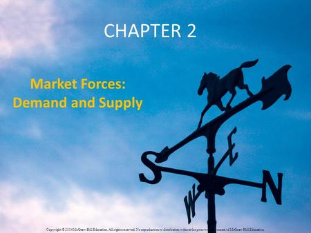 CHAPTER 2 Market Forces: Demand and Supply Copyright © 2014 McGraw-Hill Education. All rights reserved. No reproduction or distribution without the prior.