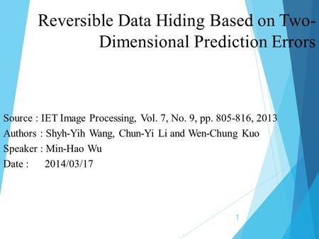 Reversible Data Hiding Based on Two-Dimensional Prediction Errors