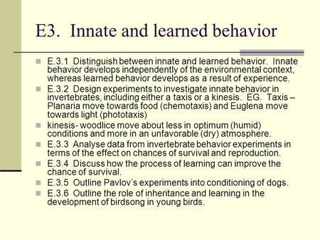 explain the relationship between innate behaviors and genetics