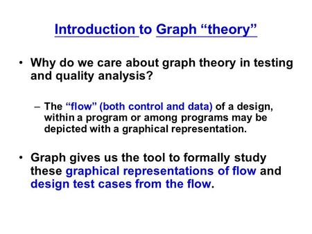 "Introduction to Graph ""theory"""