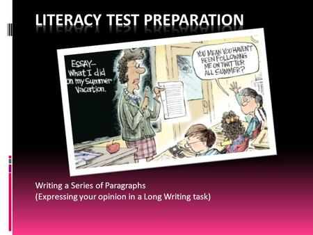 ontario literacy test practice essay What is health literacy  the rapid estimate of adult literacy in medicine (realm), the test of functional health literacy in adults (tofhla),.