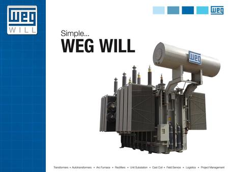 Founded in 1961, WEG has grown into a global solutions provider of industrial electrical technologies. WEG is the largest electric motor manufacturer.