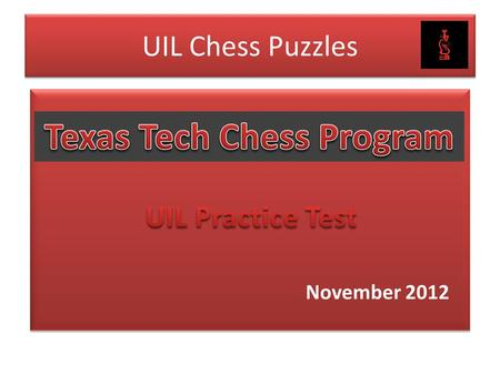 UIL Chess Puzzle Practice Material