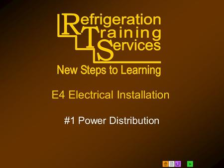  E4 Electrical Installation #1 Power Distribution.