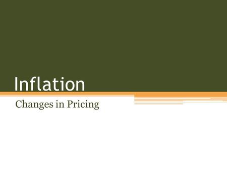Inflation Changes in Pricing. Price Comparisons 1936 - $1989 2010 - $30,171 2012 - $110,000 1969 - $3714 2012 - $22,467 Mint - $67,700 1987 - $64.99 2012.