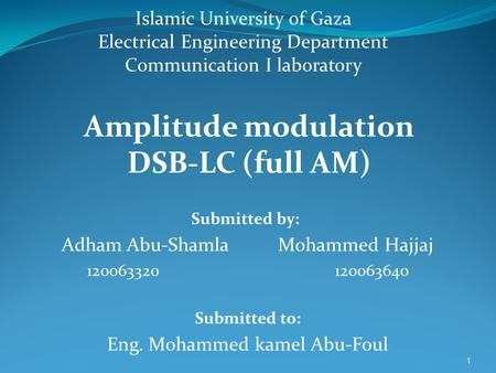 Amplitude modulation DSB-LC (full AM)