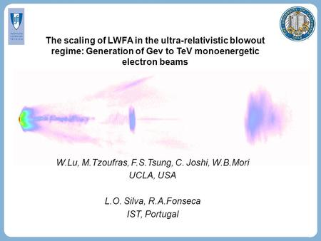 The scaling of LWFA in the ultra-relativistic blowout regime: Generation of Gev to TeV monoenergetic electron beams W.Lu, M.Tzoufras, F.S.Tsung, C. Joshi,
