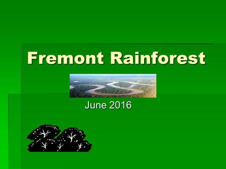 Fremont Rainforest June 2016. Tonight's meeting  Brief Introduction  So much more than a trip!  Intro to the Amazon  Amazon Details and Itinerary.