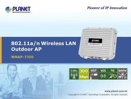 802.11a/n Wireless LAN Outdoor AP WNAP-7350. 2 / 38  Product Position  Product Overview  Product Benefit  Product Features  Management – Web UI 