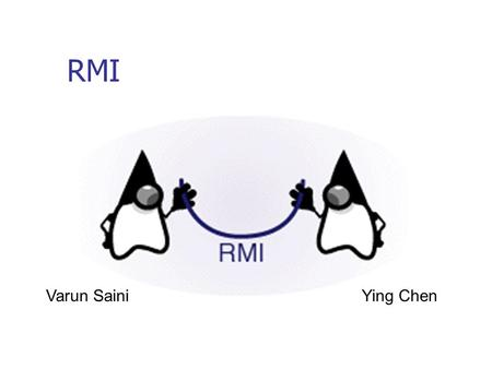 RMI Varun SainiYing Chen. What is RMI? RMI is the action of invoking a method of a remote interface on a remote object. It is used to develop applications.