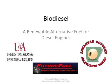 A Renewable Alternative Fuel for Diesel Engines
