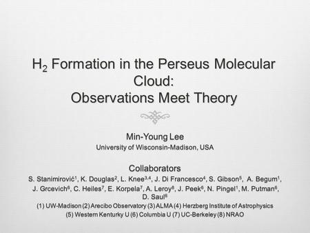 H 2 Formation in the Perseus Molecular Cloud: Observations Meet Theory.