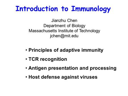 Introduction to Immunology