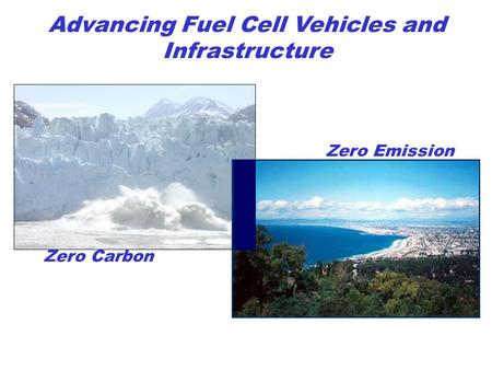 Zero Emission Zero Carbon Advancing Fuel Cell Vehicles and Infrastructure.