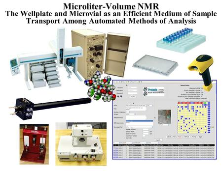 Microliter-Volume NMR The Wellplate and Microvial as an Efficient Medium of Sample Transport Among Automated Methods of Analysis.
