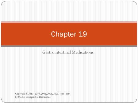 Gastrointestinal Medications