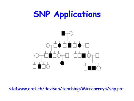 SNP Applications statwww.epfl.ch/davison/teaching/Microarrays/snp.ppt.