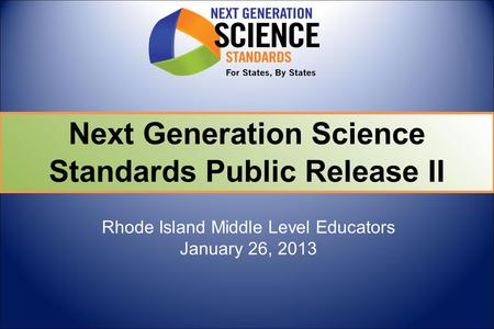 Rhode Island Middle Level Educators January 26, 2013