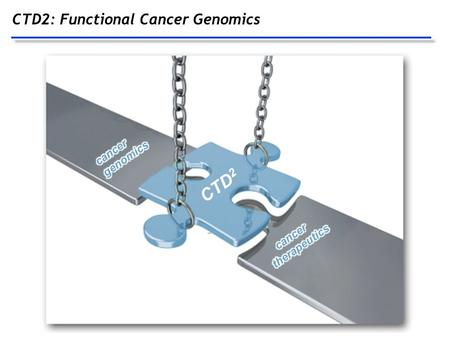 CTD2: Functional Cancer Genomics CTD 2. Prioritization must be based on both genomic and biological weight of evidence Characterization of cancer genomes.