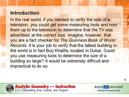Introduction In the real world, if you needed to verify the size of a television, you could get some measuring tools and hold them up to the television.