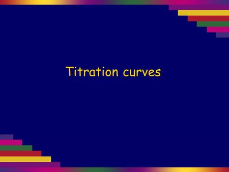 Titration curves.