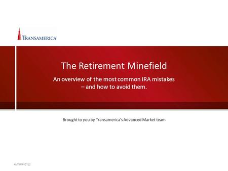 The Retirement Minefield