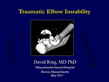 Traumatic Elbow Instability