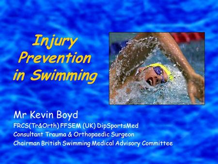 Injury Prevention in Swimming